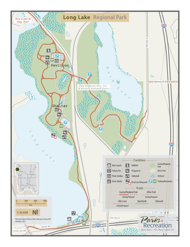 Long Lake Park Map